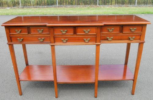 Mahogany Breakfront Six Legged Sideboard